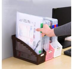 1 Piece File Bag Transparent Book Magazine Storage Box