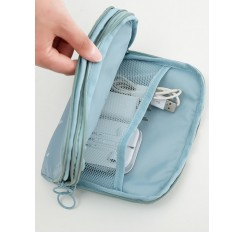 1 Pc Waterproof Storage Bag Simple Style Two Layers Cards Cables Storage Bag