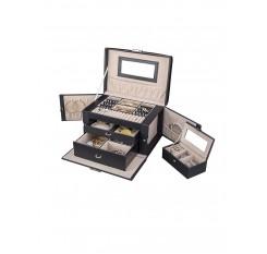 1 Pc Jewelry Box Girl's Jewelry Organizer Portable Mini Lockable Travel Case