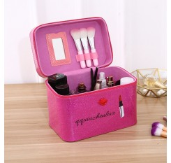 1 Piece Portable Makeup Box Red Lip Large Capacity Cosmetic Container