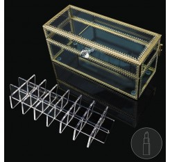 1 Piece Cosmetic Box 24 Grids Transparent Large Capacity Simple Cosmetic Box