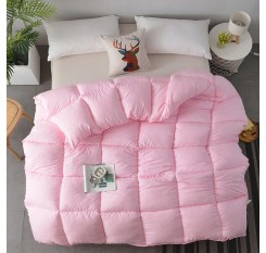 1 Piece Bedding Comforter Solid Color Simple Thick Warm Quilt