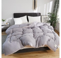 1 Piece Comforter Core Simple Solid Color Washable Supple Quilt