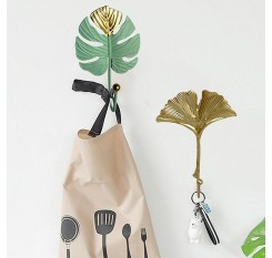 1 Piece Wall Mounted Hook Creative Mini Leaf Shaped Clothing Hook