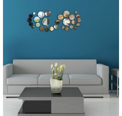 1 Set Wall Stickers Simple Acrylic DIY Mirror Decorative Stickers