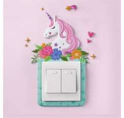 1 Piece Sticker For Electric Outlet Creative 3D Animal Wall Switch Decorative Sticker