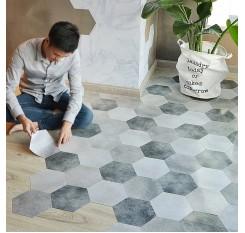 10Pcs Wall Floor Sticker Waterproof Anti-slip Modern Style Home Decoration