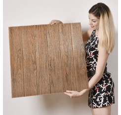 1 Pc Wall Sticker 3D Wood Grain Pattern Waterproof Adhesive Wall Paper