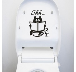 1Pc Funny Toilet Seat Sticker DIY Removable Bathroom Decal