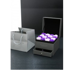 16 Artificial Roses Double-layer Drawer Soap Rose Gift Box Wedding Gift