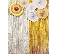 1 Pc Tinsel Curtain Solid Multi-Use Wedding Birthday Decoration Stage Backdrop