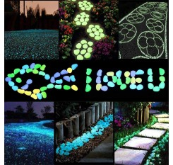 100 Pieces Luminous Stones Beautiful Tank Garden Decoration