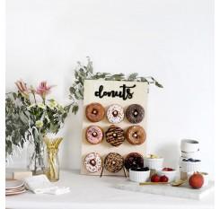 1Pc Donut Shelf Simple Wooden Party Decorative Doughnut Holder