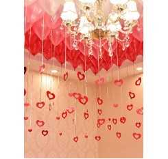 100 Pcs Hanging Decorations Love Shaped Colorful Decorations