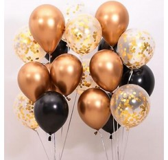 17 Pieces Confetti Balloons And Latex Balloons Set Party Decoration