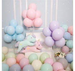 100 Pieces Balloons Solid Color Birthday Party Festival Wedding Light Round Balloons