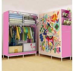 1Pc Bedroom Wardrobe Cartoon Printed Folding Large Capacity Clothes Organization