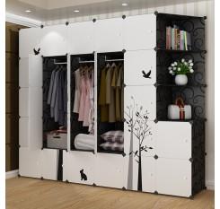 1 Piece Wardrobe Simple Style Pastoral Bird Pattern Clothes Organizer