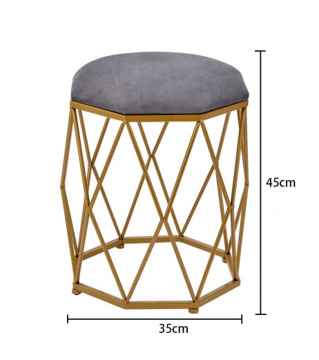 1 Piece Bedroom Dressing Stool Simple High Grade Octagonal Stool