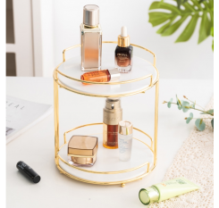 1 Piece Desktop Makeup Holder Nordic Style Rotary Storage Rack